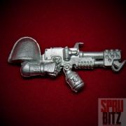 Ravenwing Bike Squadron Flamer right arm (metal)